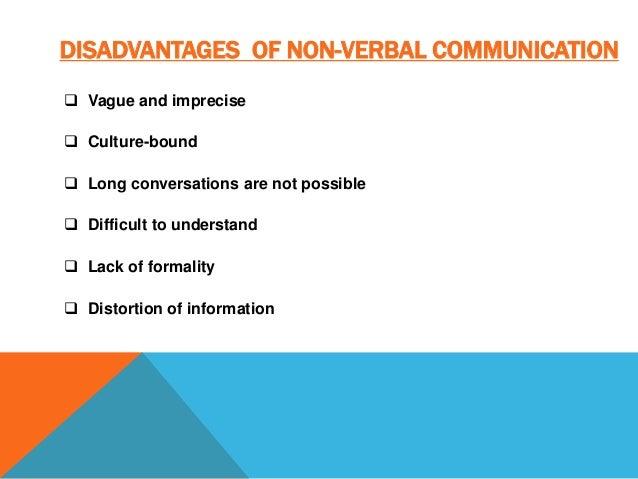 advantages and disadvantages of verbal communication slideshare