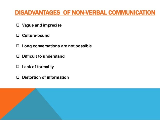 disadvantages of verbal communication