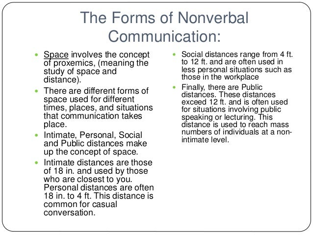 proxemics nonverbal communication and social distance The different distance zones include intimate distance, personal distance, social distance  nonverbal communication.