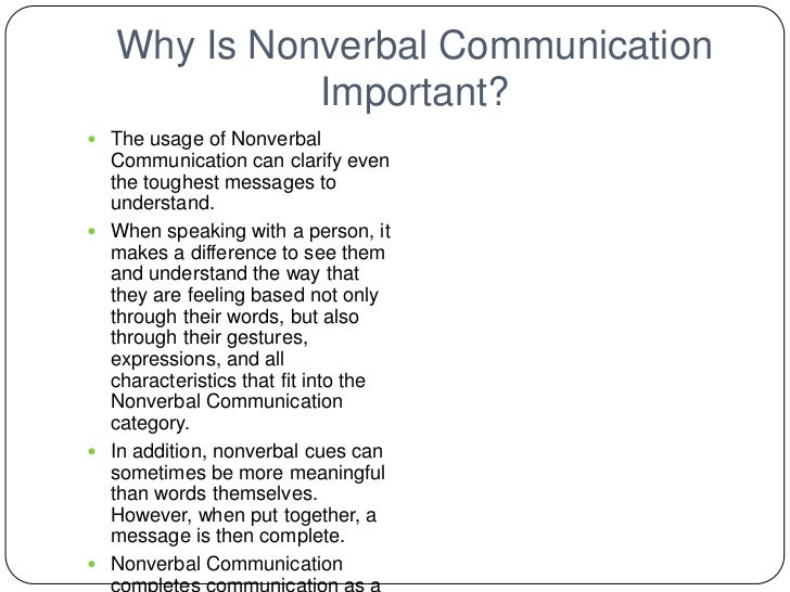 Nonverbal Powerpoint Presentation