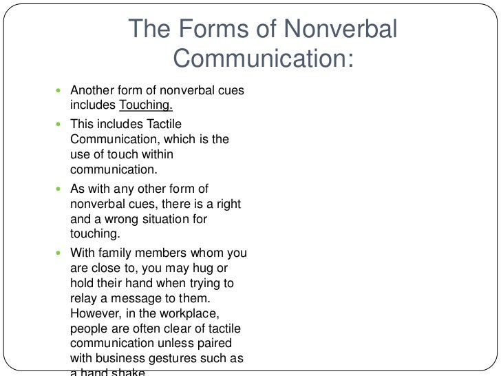 different categories of nonverbal communication