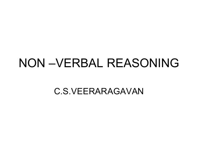 NON –VERBAL REASONING C.S.VEERARAGAVAN