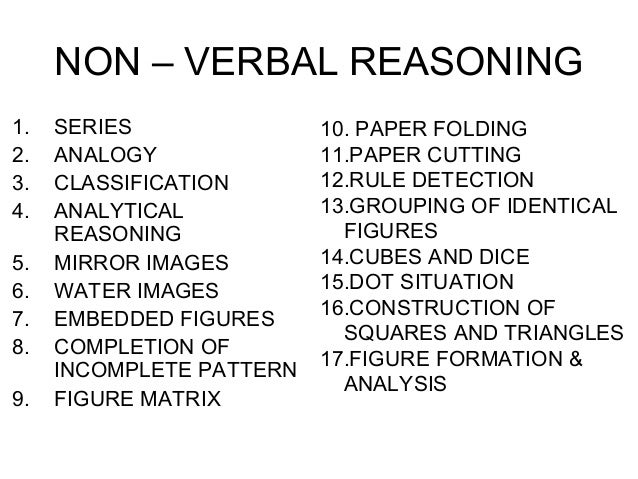verbal and nonverbal reasoning tests 13 dating