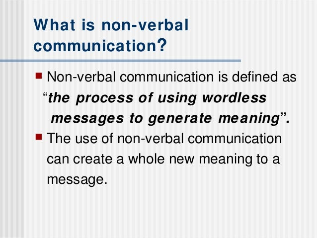 term papers non verbal communication