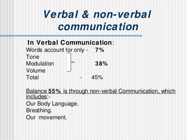 Non verbal & verbal communication