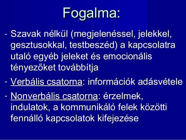 Nonverbális kommunikáció prezentáció Slide 3