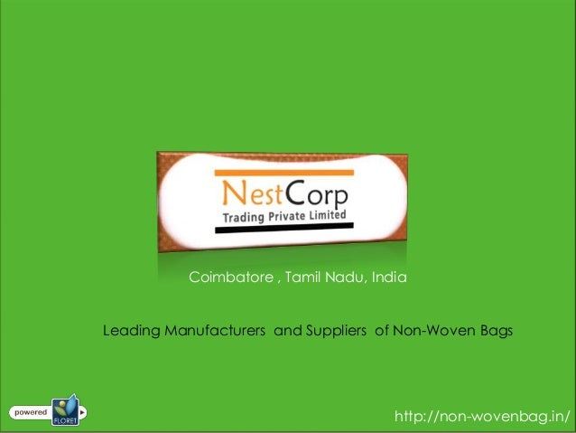 Coimbatore , Tamil Nadu, IndiaLeading Manufacturers and Suppliers of Non-Woven Bags                                       ...