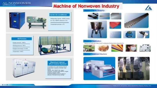 Lay Out Of Non oven Factory  Machine of Nonwoven Industry
