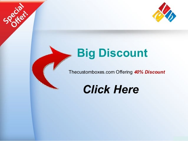 Big Discount Thecustomboxes.com Offering 40% Discount Click Here