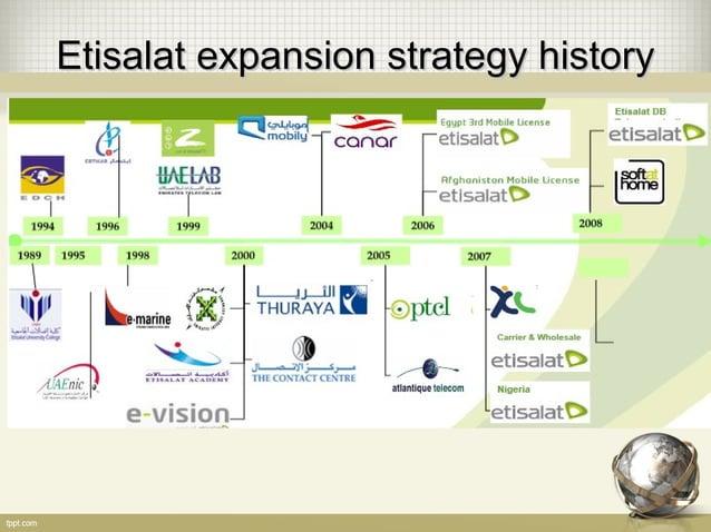 Etisalat expansion strategy historyEtisalat expansion strategy history