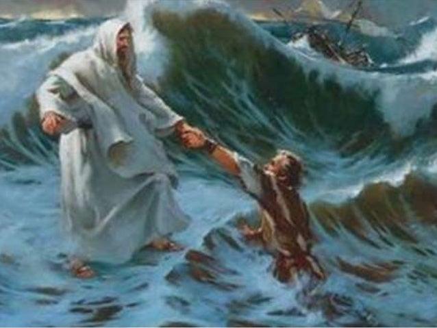 """(Mt 14.31) """"E logo Jesus, estendendo a mão, segurou-o, e disse-lhe: Homem de pouca fé, por que duvidaste?"""""""