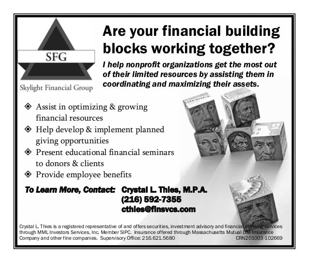 Are your financial building                                       blocks working together?                                ...