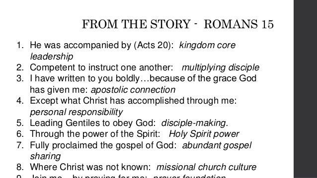 CHECKLISTSUMMARY ◻ kingdom team leadership ◻ multiplying disciple ◻ apostolic connection ◻ personal responsibility ◻ disci...