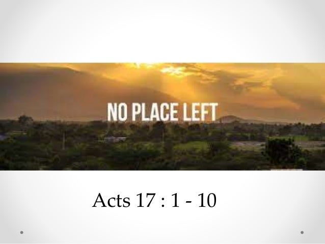 Acts 17 : 1 - 10