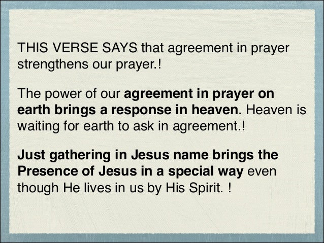 No prayer no there phased array synergy 7 this verse says that agreement in prayer strengthens our prayer the power platinumwayz