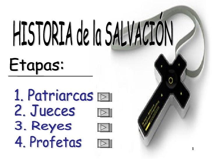 HISTORIA de la SALVACIÓN 1. Patriarcas 2. Jueces 3. Reyes 4. Profetas Etapas: