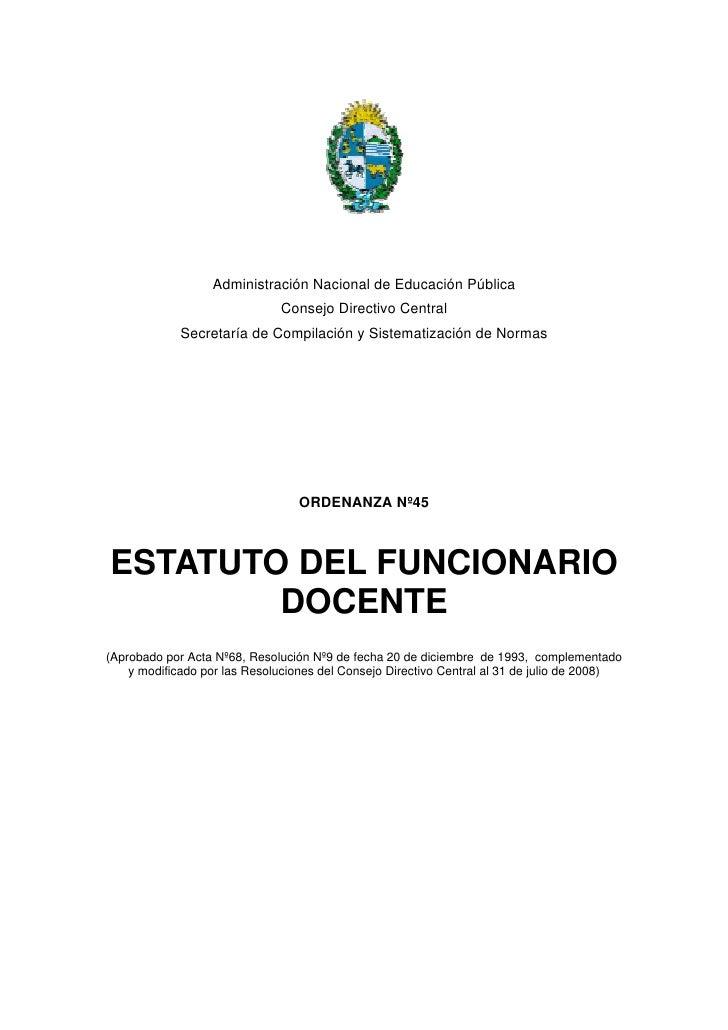 Administración Nacional de Educación Pública                               Consejo Directivo Central              Secretar...