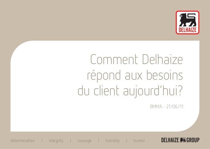 Comment Delhaize                             répond aux besoins                            du client aujourd'hui?         ...