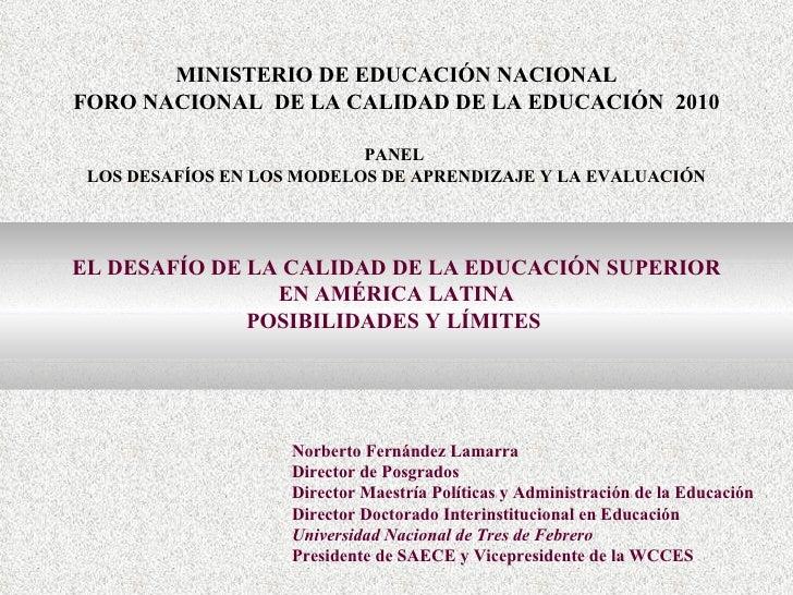 Norberto fernández, universidad nacional de tres de febrero, argentina.