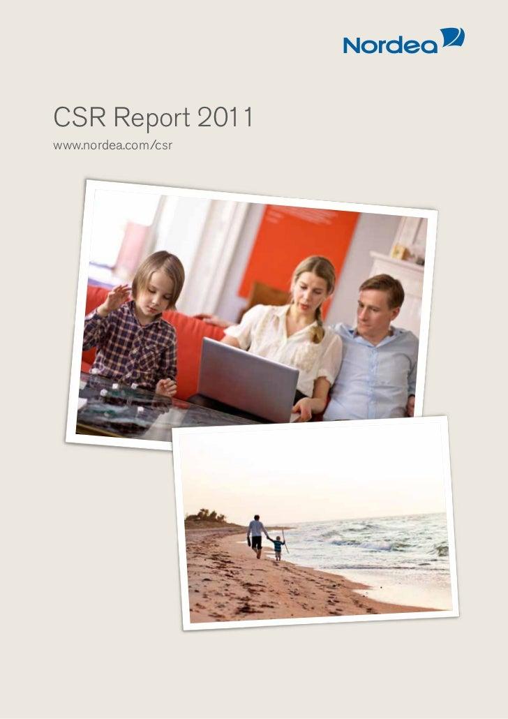 CSR Report 2011www.nordea.com/csr