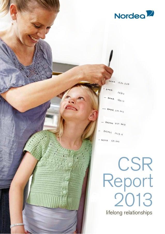 CSR Report 2013 lifelong relationships