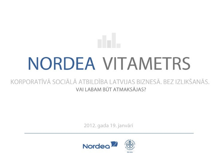 Nordea vitametrs 19.01.2012