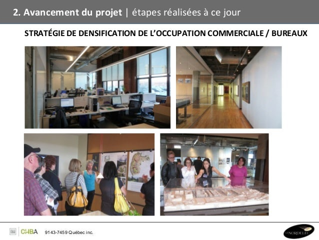 2. Avancement du projet   étapes réalisées à ce jour      STRATÉGIE DE DENSIFICATION DE L'OC...