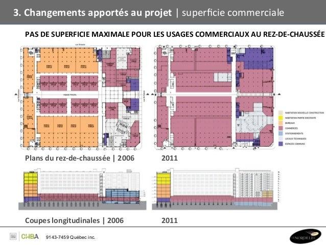 3. Changements apportés au projet   superficie commerciale    PAS DE SUPERFICIE MAXIMALE POUR LES...