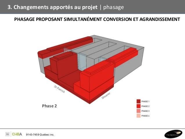 3. Changements apportés au projet   phasage    PHASAGE PROPOSANT SIMULTANÉMENT CONVERSION ET AGRAN...