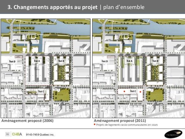3. Changements apportés au projet   plan d'ensemble       Îlot D       Îlot D                 Îl...