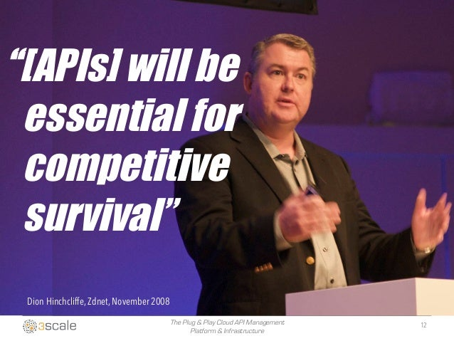 """The Plug & Play Cloud API Management Platform & Infrastructure """"[APIs] will be essential for competitive survival"""" Dion Hi..."""