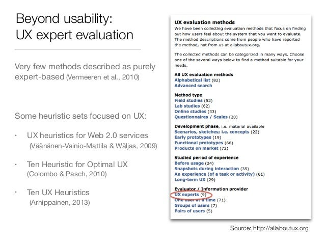 NORDICHI'14 - Carine Lallemand - How Relevant is an Expert Evaluation of UX based on a Psychological Needs-Driven Approach? Slide 3