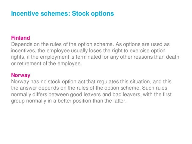 incentive stock options after termination