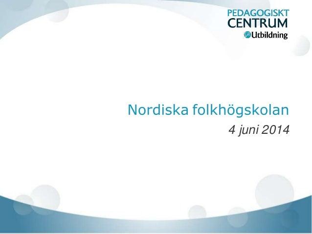 nordiska folkhögskolan