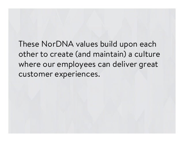 These NorDNA values build upon each other to create (and maintain) a culture where our employees can deliver great custome...