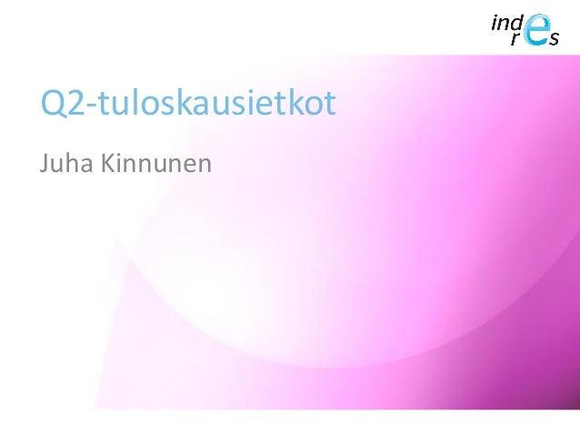 Q2-tuloskausietkot Juha Kinnunen