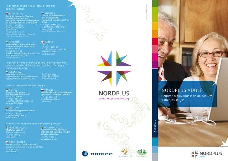 pagrindiniai Bendrosios Nordplus programos                                                                                ...