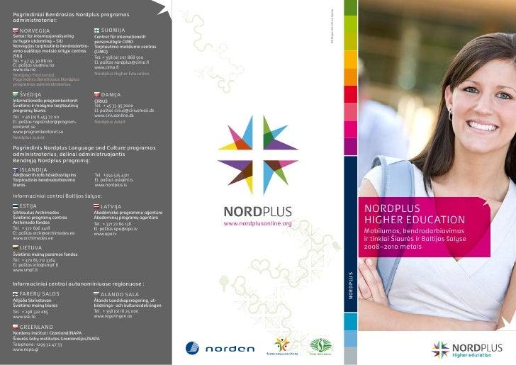 MK Bergen Advertising AgencyPagrindiniai Bendrosios Nordplus programosadministratoriai:   NORVEGIJA                       ...