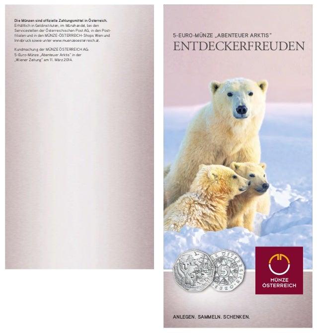 Nordpol Münze Abenteuer Arktis Neue 5 Euro Münze Aus Silber