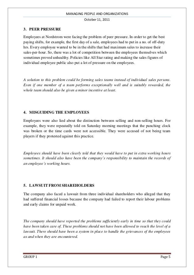 Nordstrom case study harvard writing science research paper