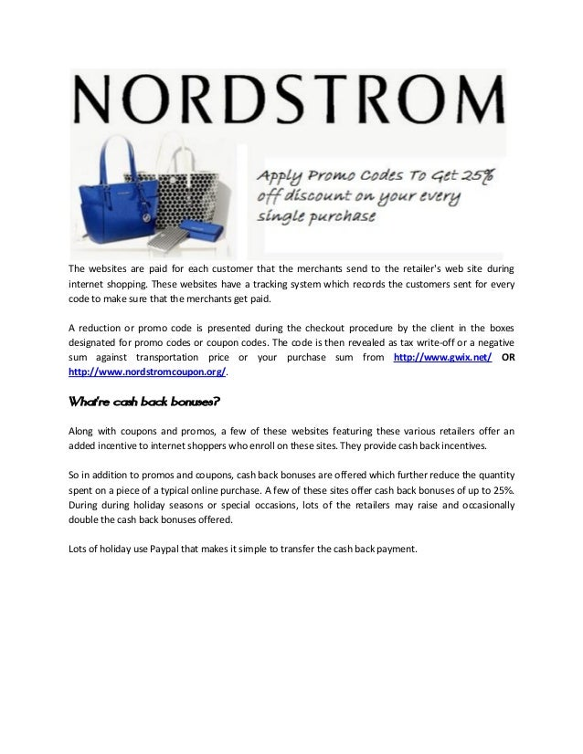 Nordstrom Promo Codes & Coupons - Come2OrderDC.