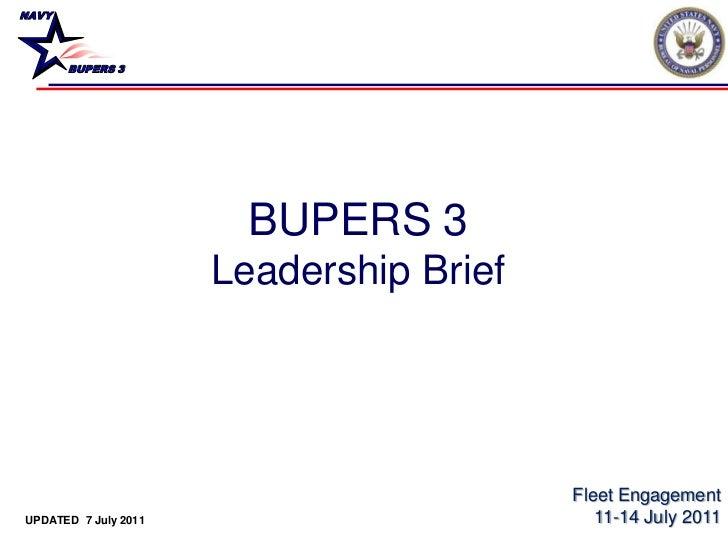 NAVY       BUPERS 3                        BUPERS 3                      Leadership Brief                                 ...