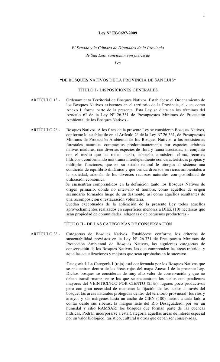 1                                        Ley Nº IX-0697-2009                       El Senado y la Cámara de Diputados de l...