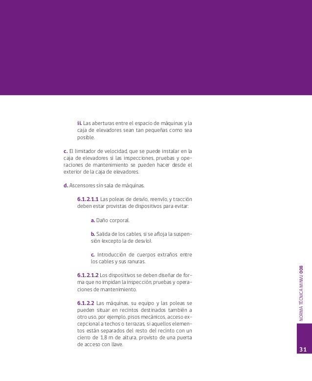 Norma Tecnica Minvu 008 Requisitos Para Equipos De Transporte Vertica