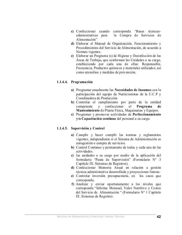 Normaalimentacionnutricion2005final for Que son tecnicas de oficina