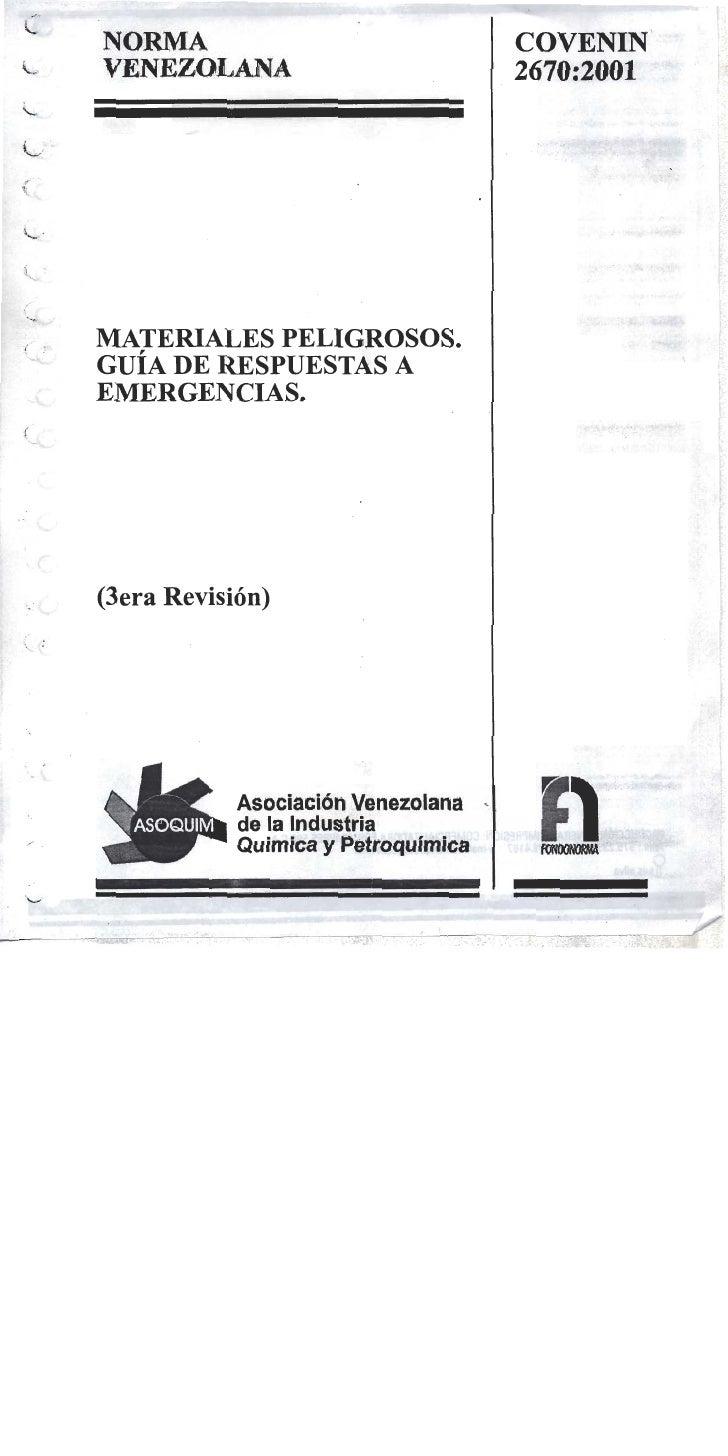 Norma Covenin 2670 01