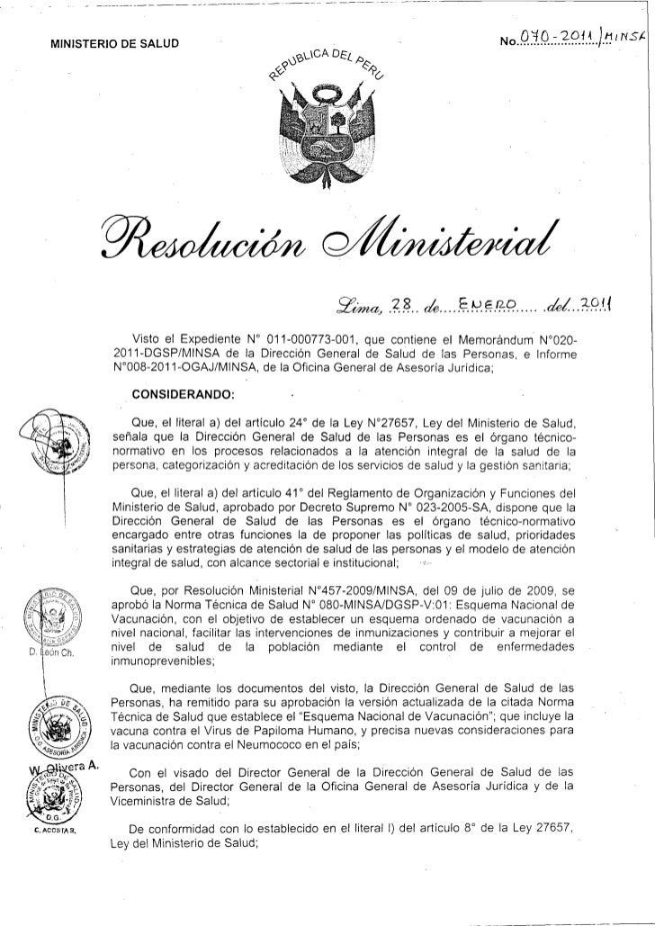MINISTERIO DE SALUD                                                                      No 013 -2014                     ...