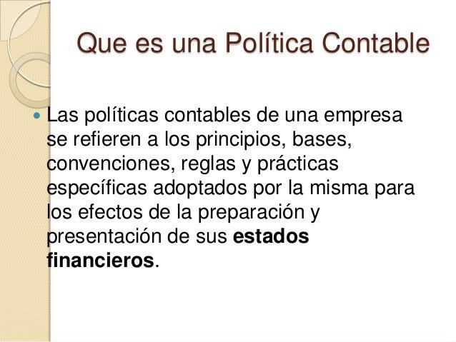 Norma internacional de contabilidad nic 34 presentacion for Que es politica internacional