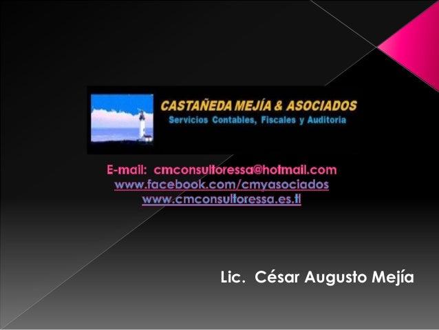 Lic. César Augusto Mejía