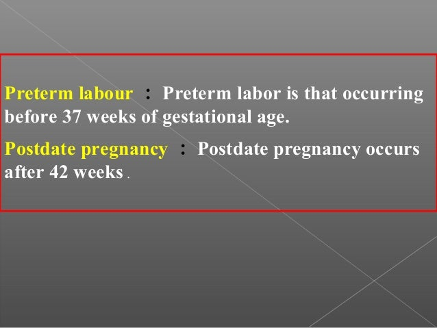 Normal and abnormal labor part 1